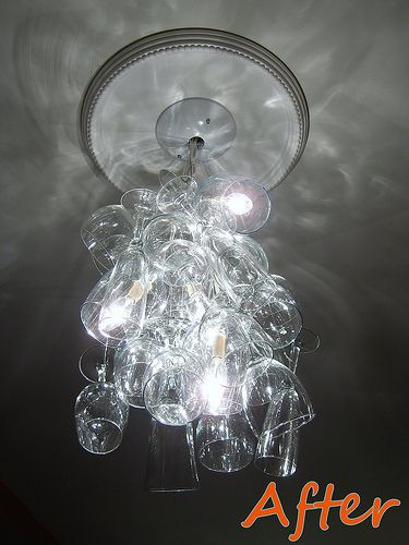 DIY Chandelier- awesome for mystery dinners