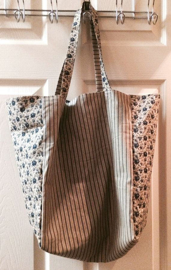 Eco Chic Reusable Market Bag by CountryCottageCotton on Etsy