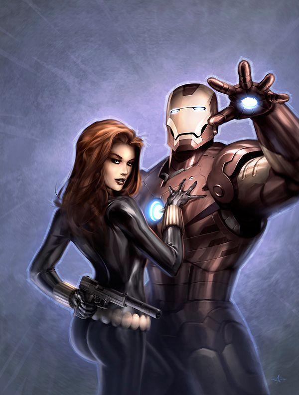Image Detail For Black Widow Iron Man Alex Garner Black
