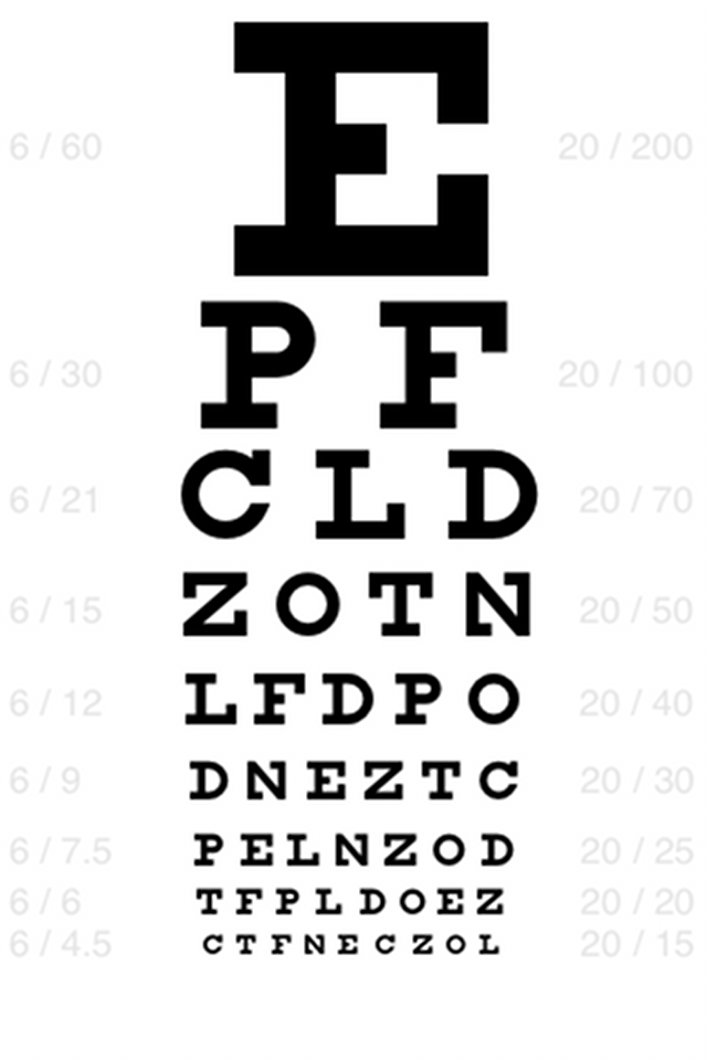 This is a graphic of Printable Eye Charts with regard to bates method