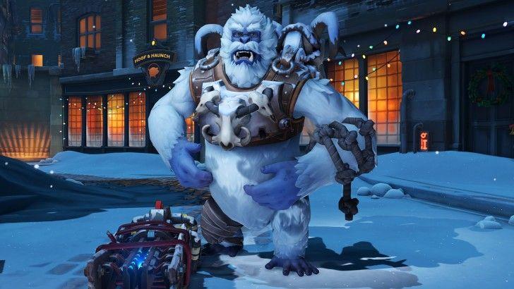 Winston Christmas Skin.Yeti Winston Winter Wonderland Overwatch Skin Wallpaper