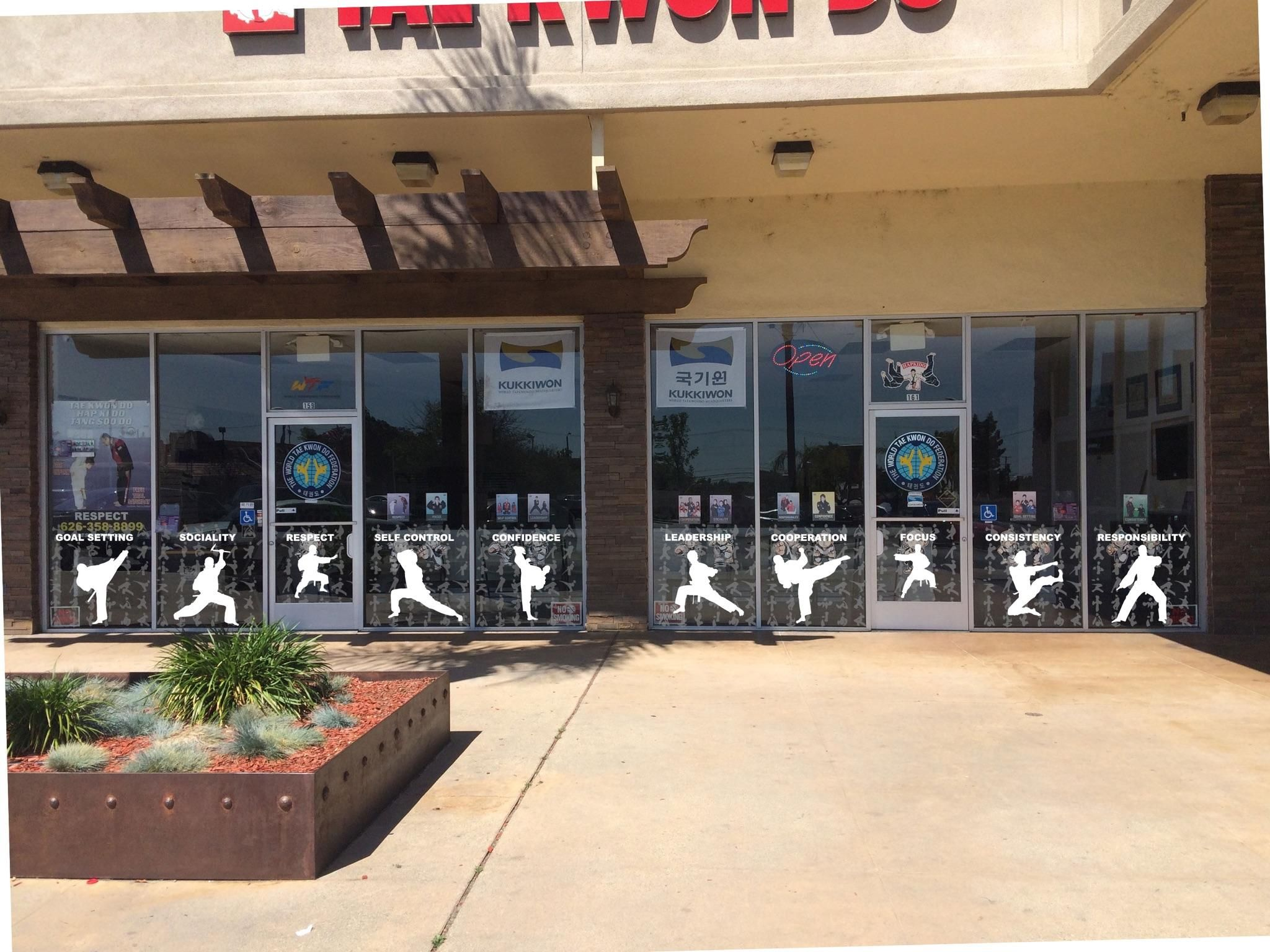 Martial Arts Taekwondo Karate Window Decals Stickers Martial Arts Sign Karate Dojo
