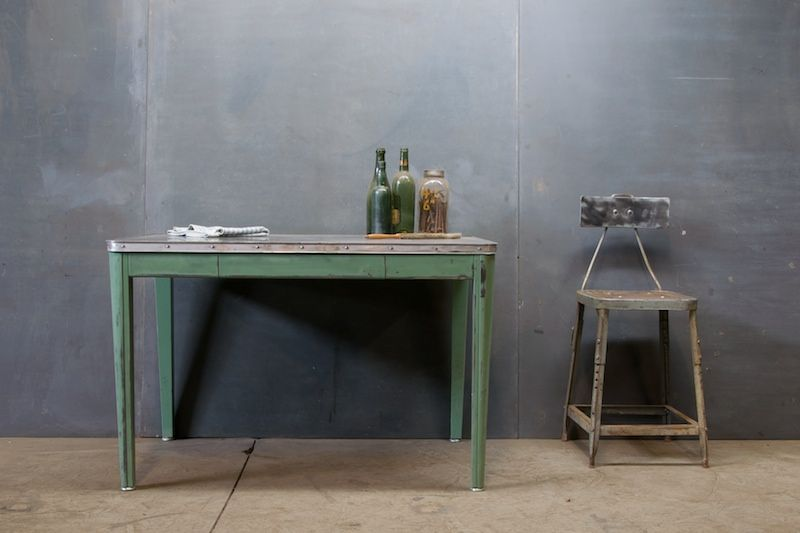 Industrial Lab Table And Chair