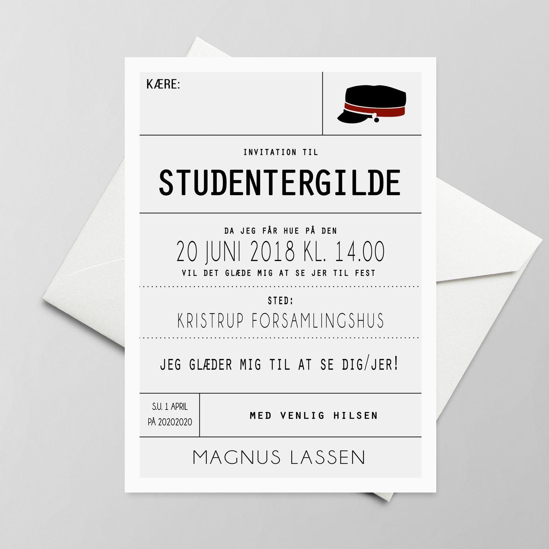 indbydelse til studenterfest