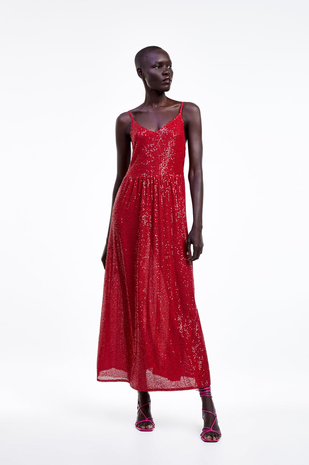 LONG SEQUINNED DRESS - View all-DRESSES-WOMAN  ZARA United