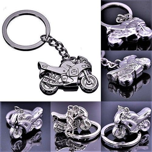 FROM USA: COOL! (Extremely Limited Quanity)  Motorcycle KeyChain Key Chain /Ring In The Form Of A Motor Cycle Bike  Orniment Charm Pendant  Gift Jewelry Retail Value 100.00. Starting at $1