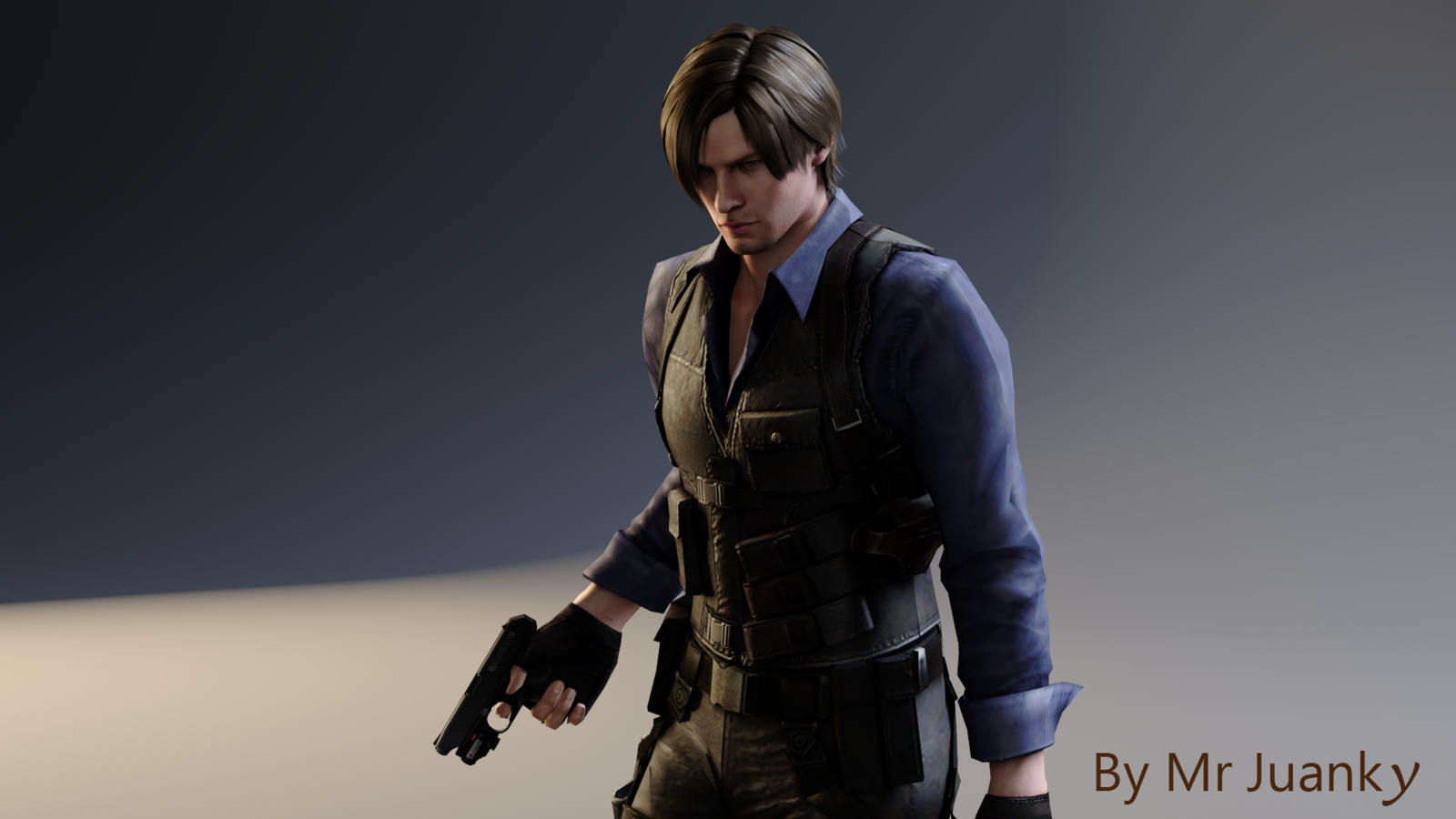 Leon S Kennedy Asia Outfit Re6 Leon Kennedy Leon S Kennedy Resident Evil