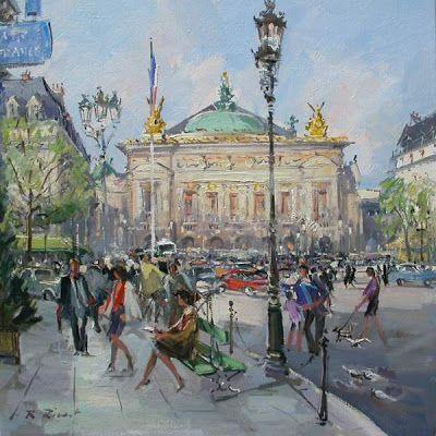 Paris in Painting by Robert RIcart French Artist ~ Blog of an Art Admirer