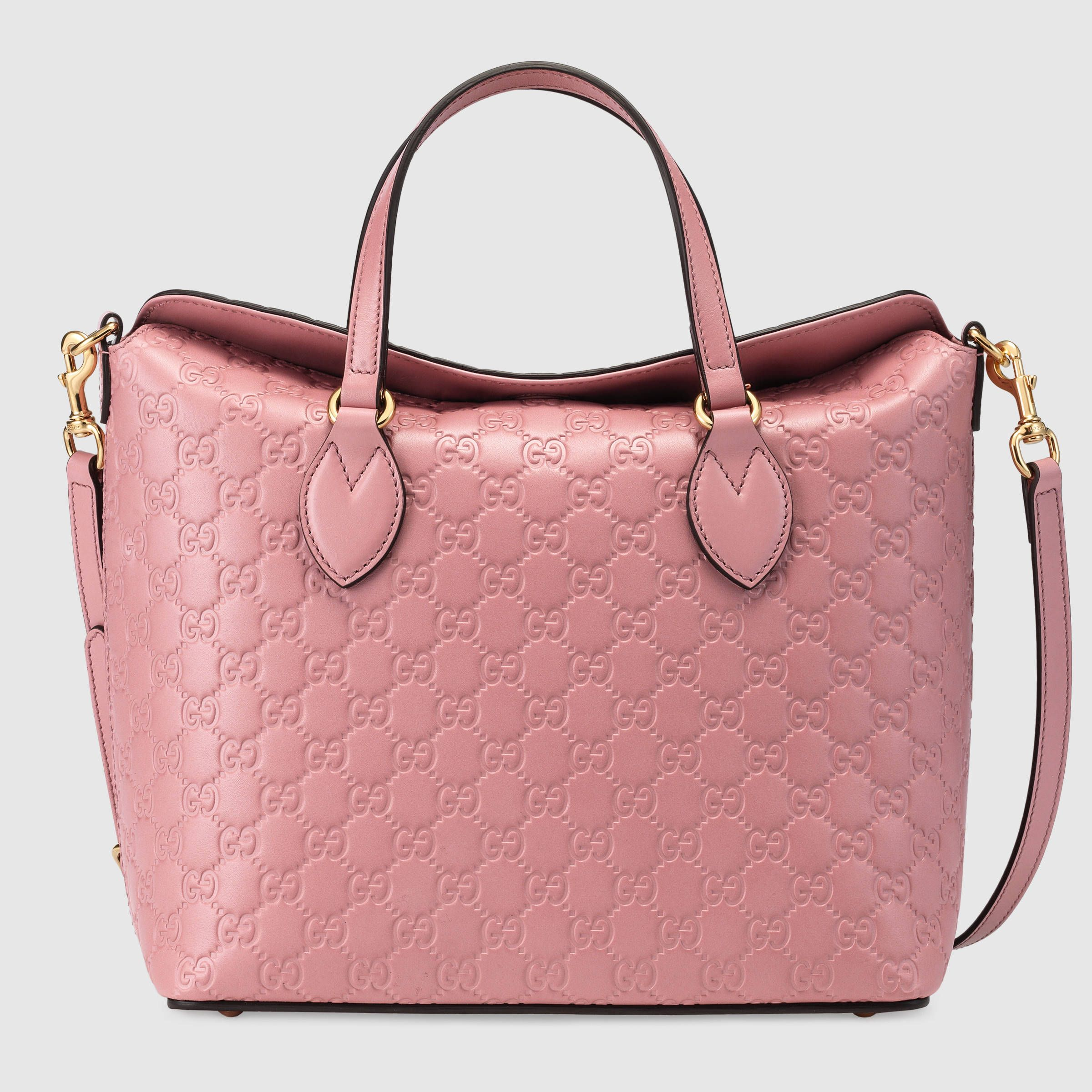 d65114d220b0 Gucci Signature Leather Top Handle Bag in Candy Pink - $2,255 | 手袋 ...