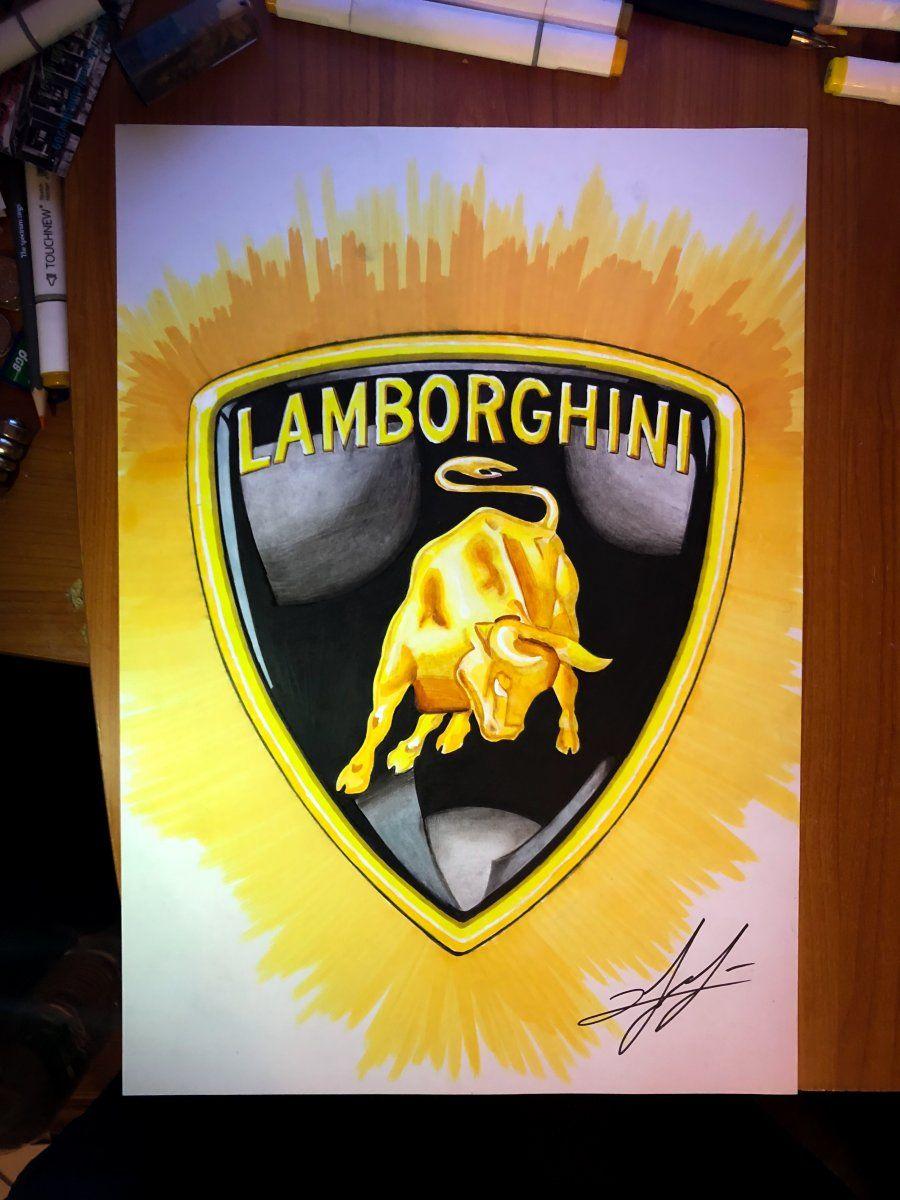 Lamborghini Logo Drawing For Fun Lamborghini Lamborghini