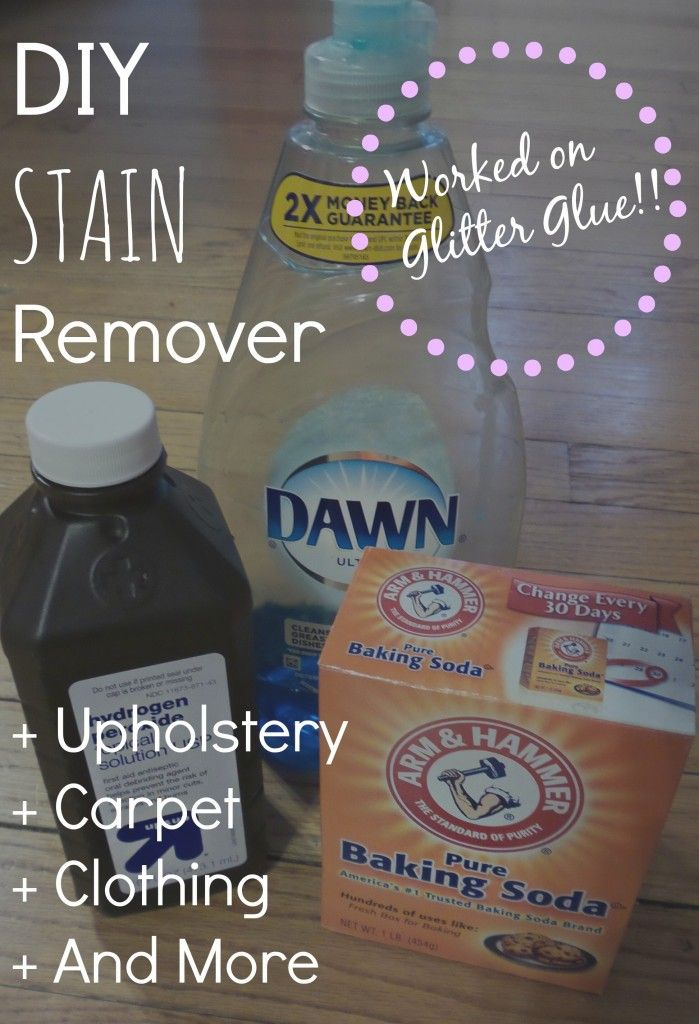 DIY: Upholstery Cleaner/Stain Remover. Worked On Glitter Glue!