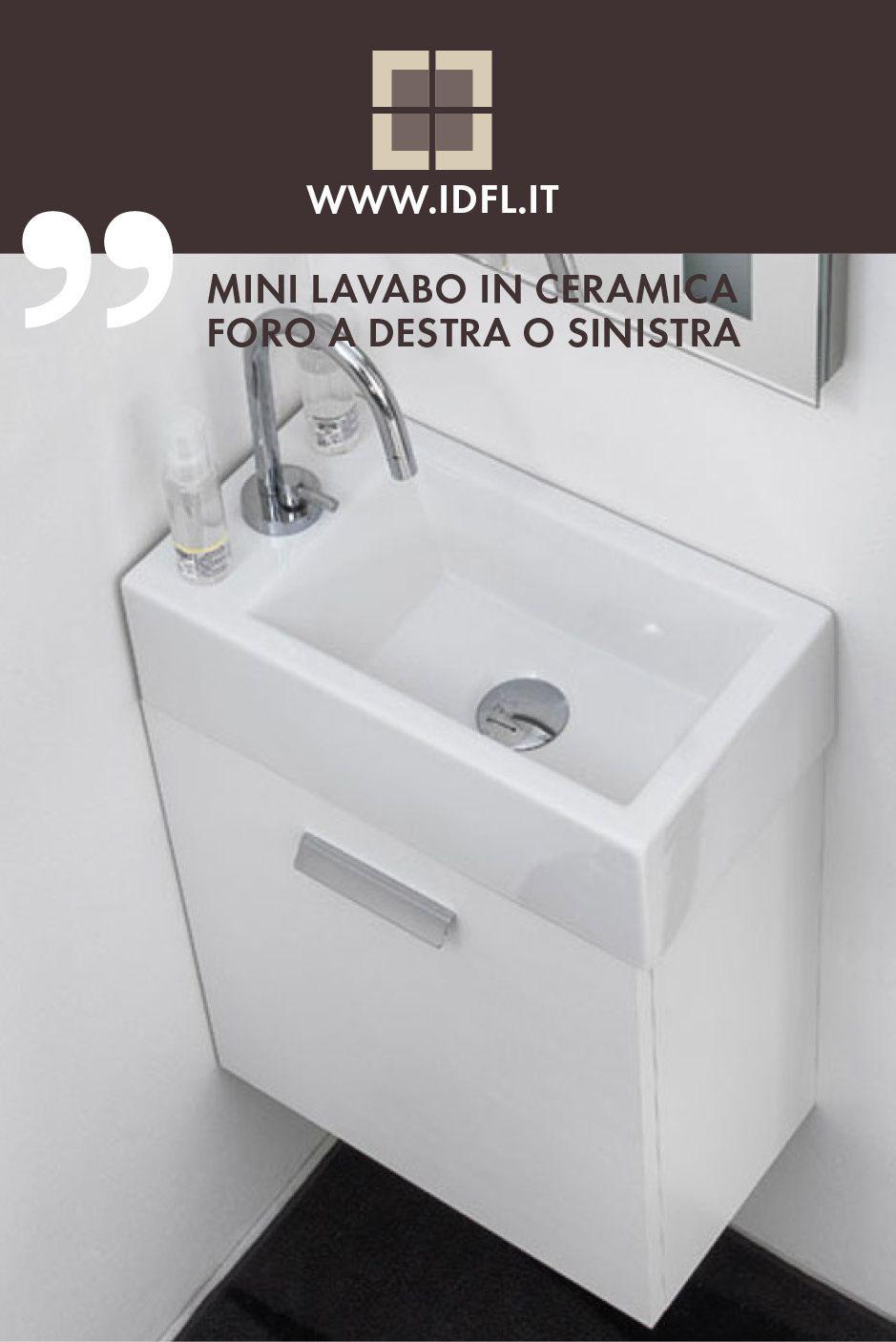 Mini Lavabo In Ceramica Bianco Serie Acquaceramica Di