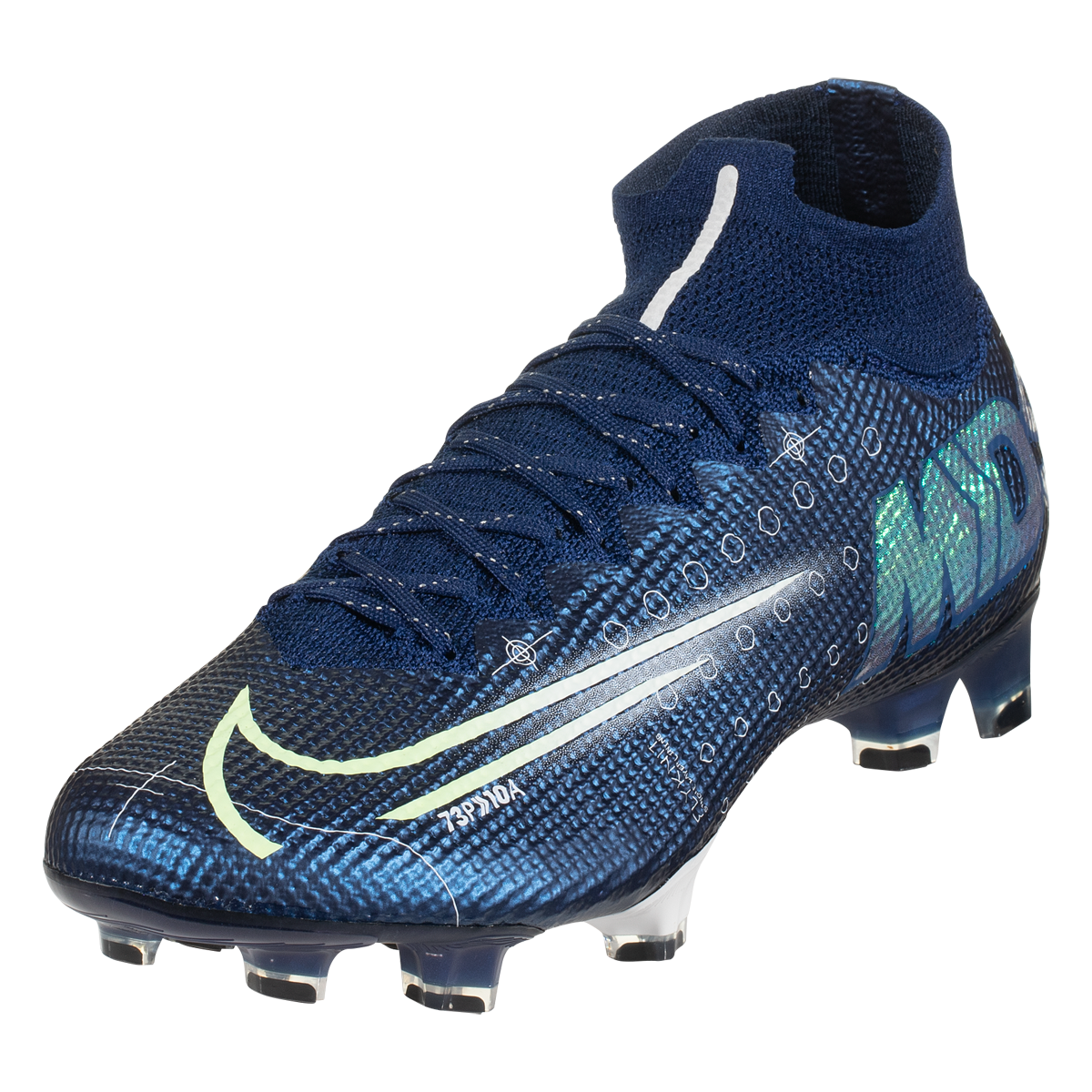 Nike Mercurial Superfly 7 Elite Fg Soccer Cleat Blue Void Metallic Silver White Black 8 Superfly Cleats Cleats Soccer Cleats