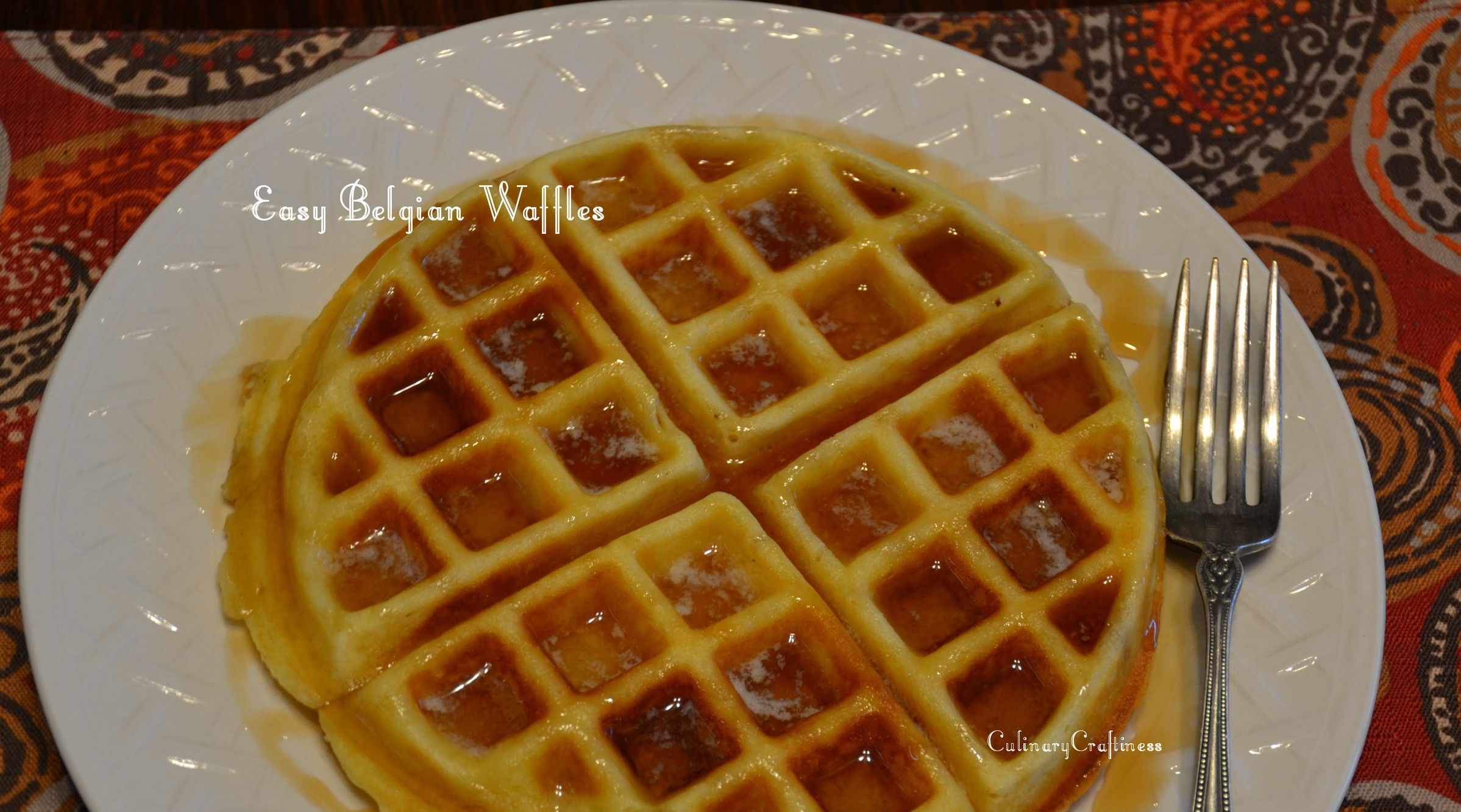 Easy Belgian Waffles With or Without Peanut Butter | Culinary Craftiness