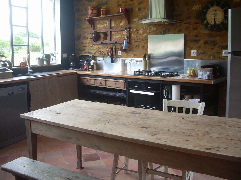 Table Cuisine Bois. Elegant Table Haute Bois Amazing Table Cuisine ...