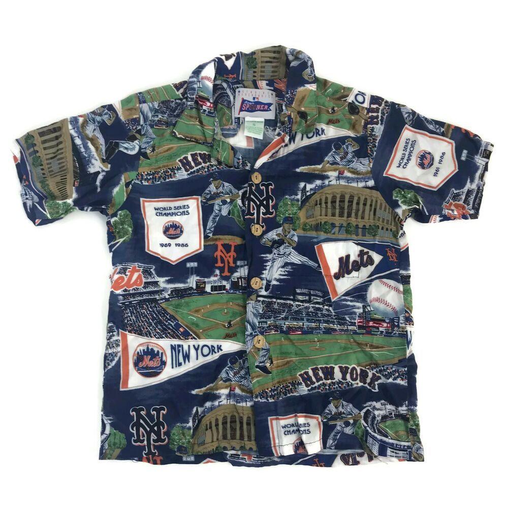 e45e1ed0 Vintage Reyn Spooner MLB New York Mets Boys Youth Hawaiian Aloha Shirt Rayon  S #ReynSpooner #Everyday