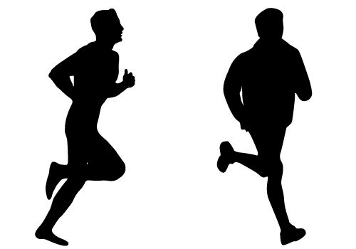 runners vector | Home > Blog > Sports Vector Silhouette ...