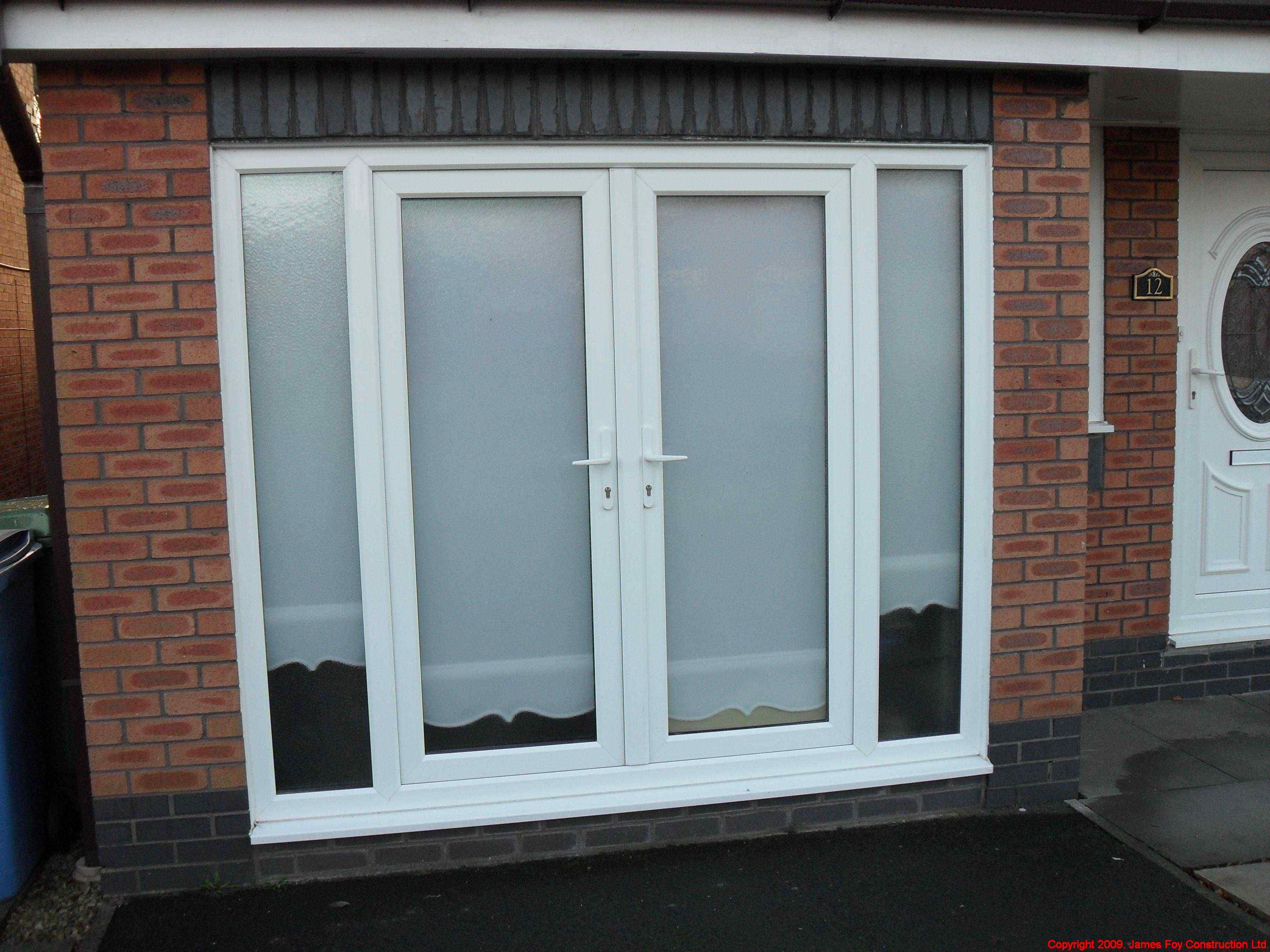 French Window Garage Conversion French Doors Interior French