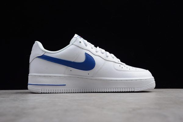 newest 29ed7 3f8fd Nike Air Force 1 Low NYC HS White Safety Orange Game Royal 722241-844 To  Buy-2