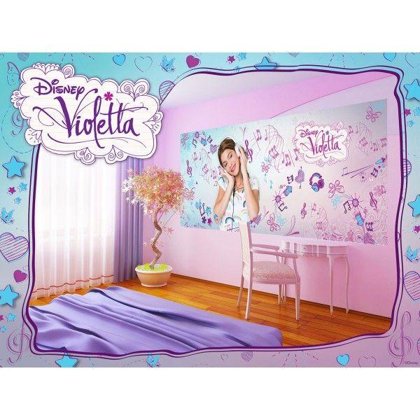 fresque murale musique violetta disney papier peint maxi poster d co disney violetta pinterest. Black Bedroom Furniture Sets. Home Design Ideas
