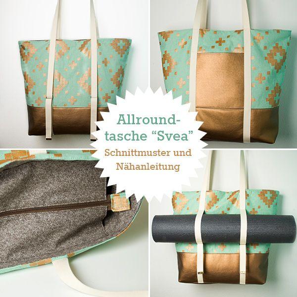 Neues Schnittmuster: Allroundtasche Svea | Yoga | Pinterest ...