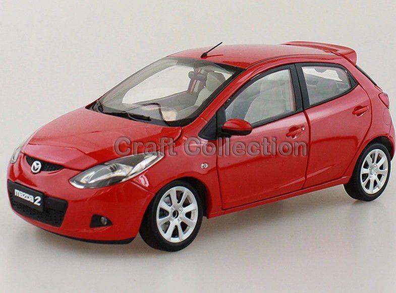 1 18 Mazda 2 Hatchback Diecast Model Car Several Colors Miniature