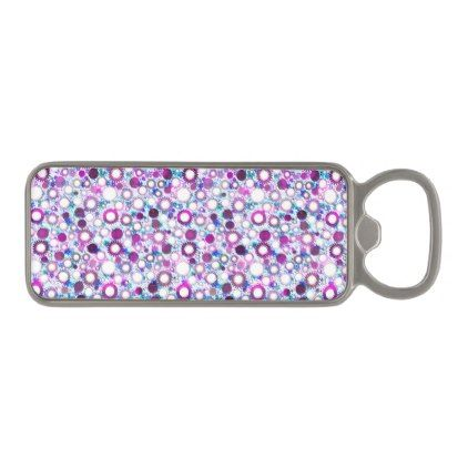 Cute colorful flowers suns patterns magnetic bottle opener - pattern sample design template diy cyo customize