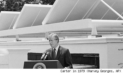 President Carter With Solar Panels At White House In 1979 Later Taken Down By The Reagan Administration In This Moment Solar Panels Solar