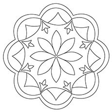 Free Printable Rangoli Coloring Pages For Your Little One
