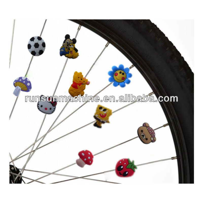 bicycle accessories plastic spoke beads for kids bike. Black Bedroom Furniture Sets. Home Design Ideas