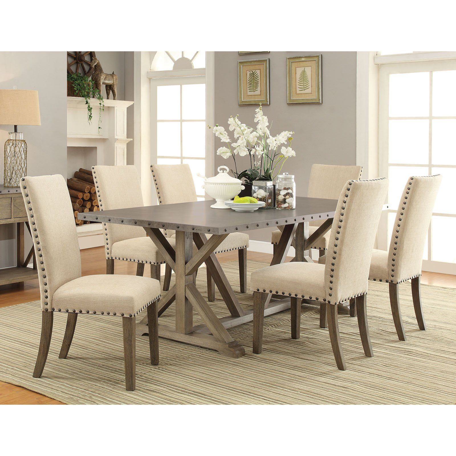 Coaster Furniture Coaster Webber 7 Piece Dining Table Set From