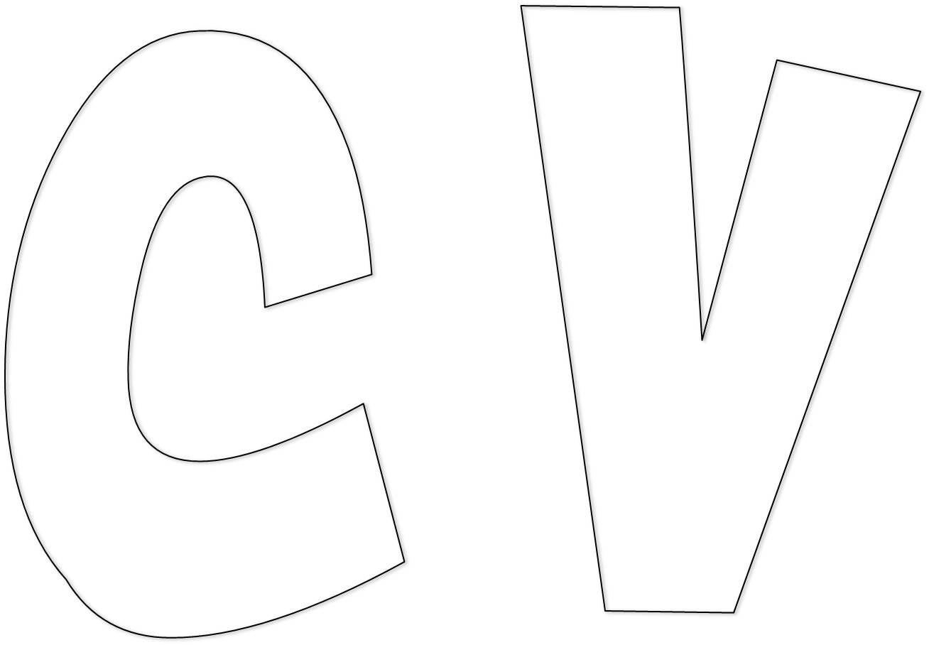 moldes de letras para imprimir - Nocturnar …   Pinteres…