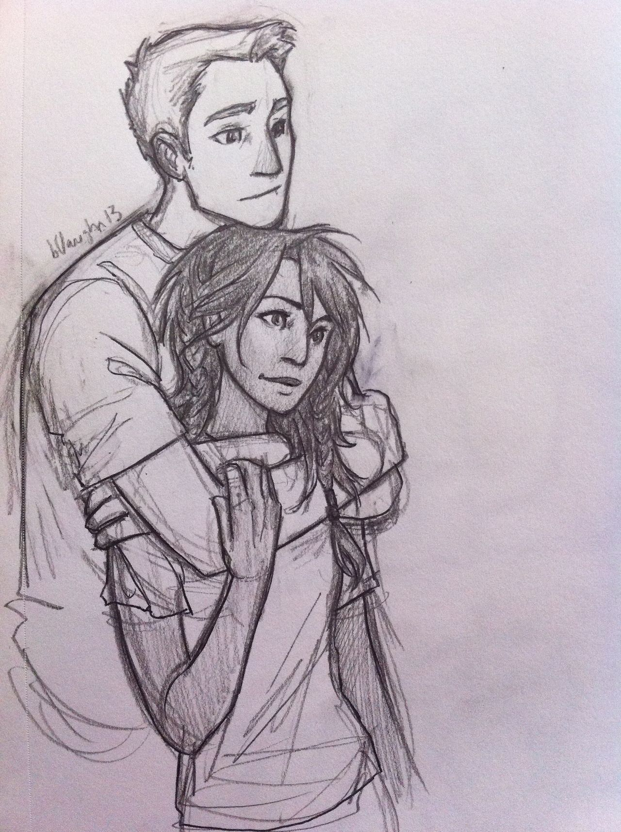 Jason And Piper These Two Are Right Behind Percy And Annabeth