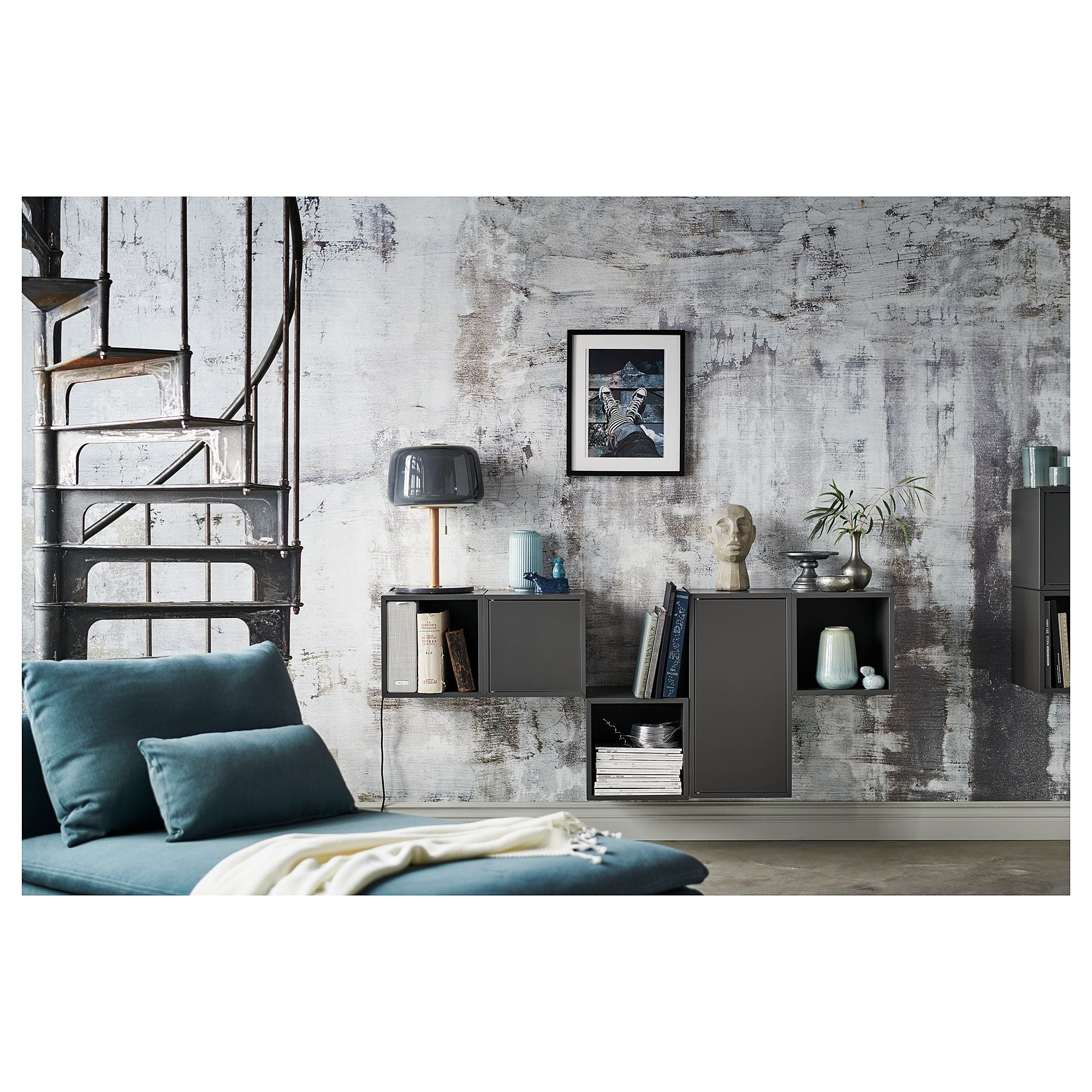IKEA EKET Dark Gray Wallmounted combination