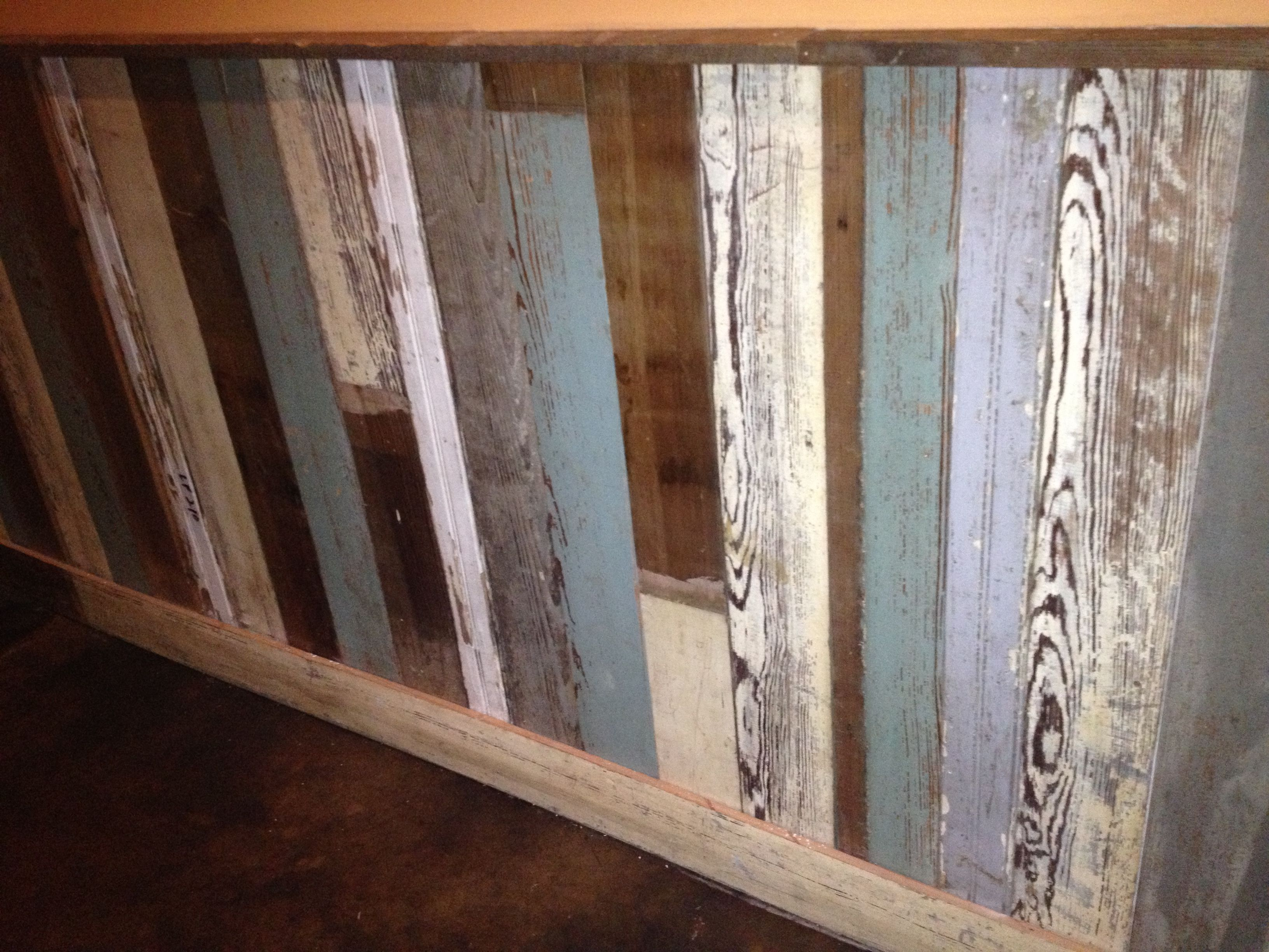 Barn Wood Wainscoting: Reclaimed Wainscoting. Love!