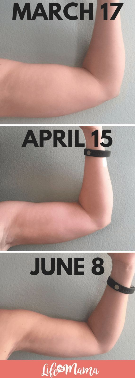 How I Toned My Arms In Less Than 3 Months using only 5 pound weights 4x a week! #tonedarms #fitness...