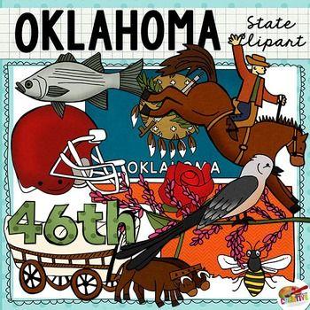 Oklahoma State Clip Art in 2019 | History | Oklahoma, Clip ...