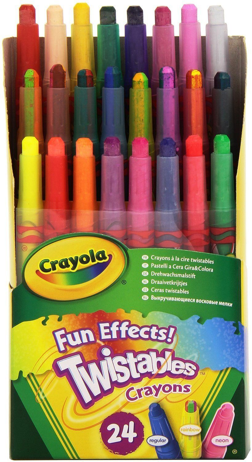 8 6 Crayola 9824 Twistables Crayons 24 Pack Fun Effects Colors