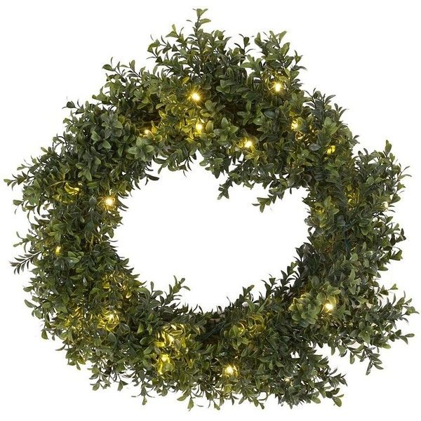 Pre lit boxwood wreath 20 in 26 liked on polyvore featuring pre lit boxwood wreath 20 in 26 liked on polyvore aloadofball Choice Image