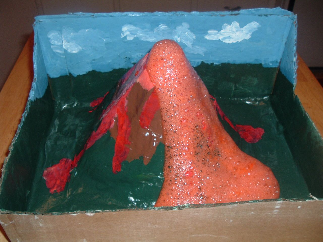 Basic Earth Science Projects For Kids An Erupting Volcano