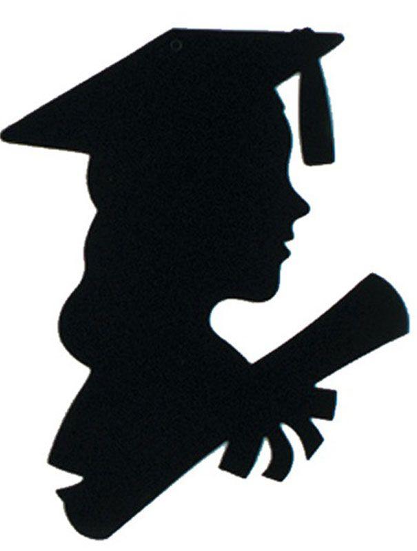 Graduation Silhouette Girl : graduation, silhouette, Female, Silhouette, Graduate, Clipart, Graduation, Girl,