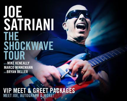 Joe satriani is one of my favorite musicians favorite music joe satrianis 2018 featuring john petrucci and phil collen tickets vip meet greet and album pre order bundles m4hsunfo