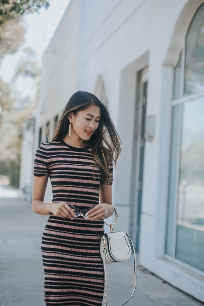 756982591b64 Striped Sweater Dress Outfit Perfect For The Office