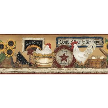 Country Book Tin Star & Heart Coffee Wallpaper CB5667