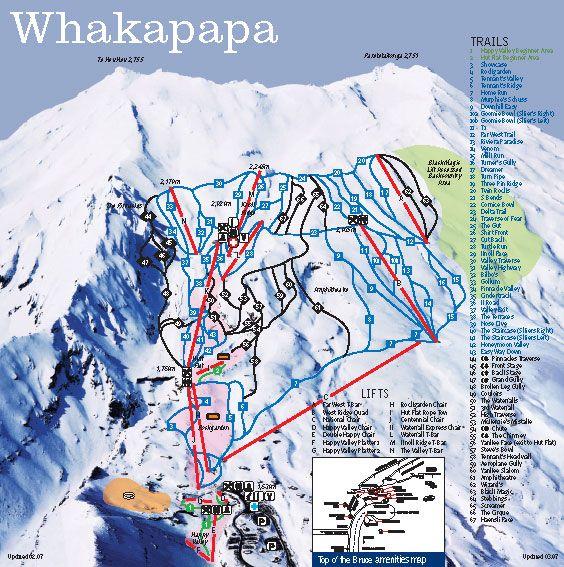 Whakapapa Ski Resort Piste Map