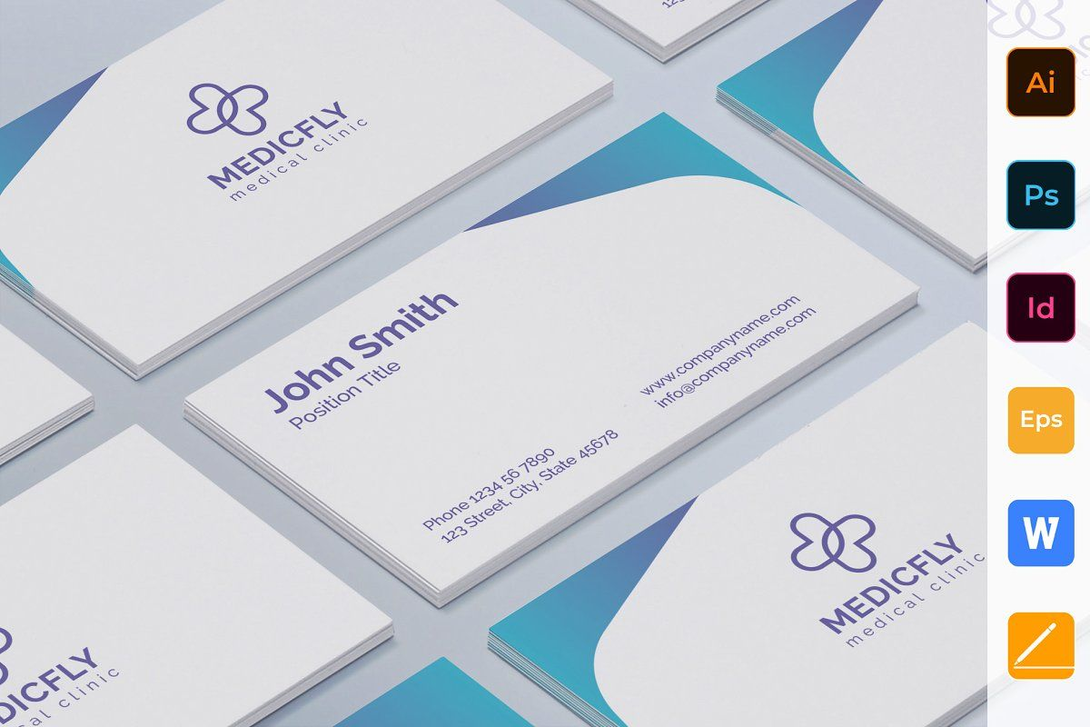 Clinic Brochure Bifold in 2020   Medical business card ...