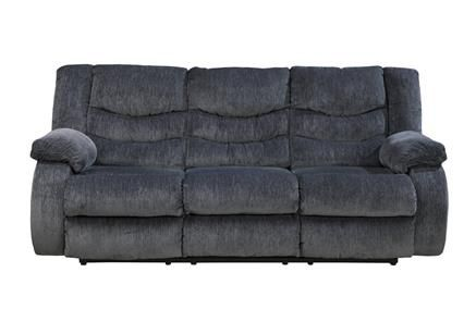 Garek Contemporary Blue Fabric Reclining Sofa Luxury Sofa Modern Reclining Sofa Reclining Sofa Living Room