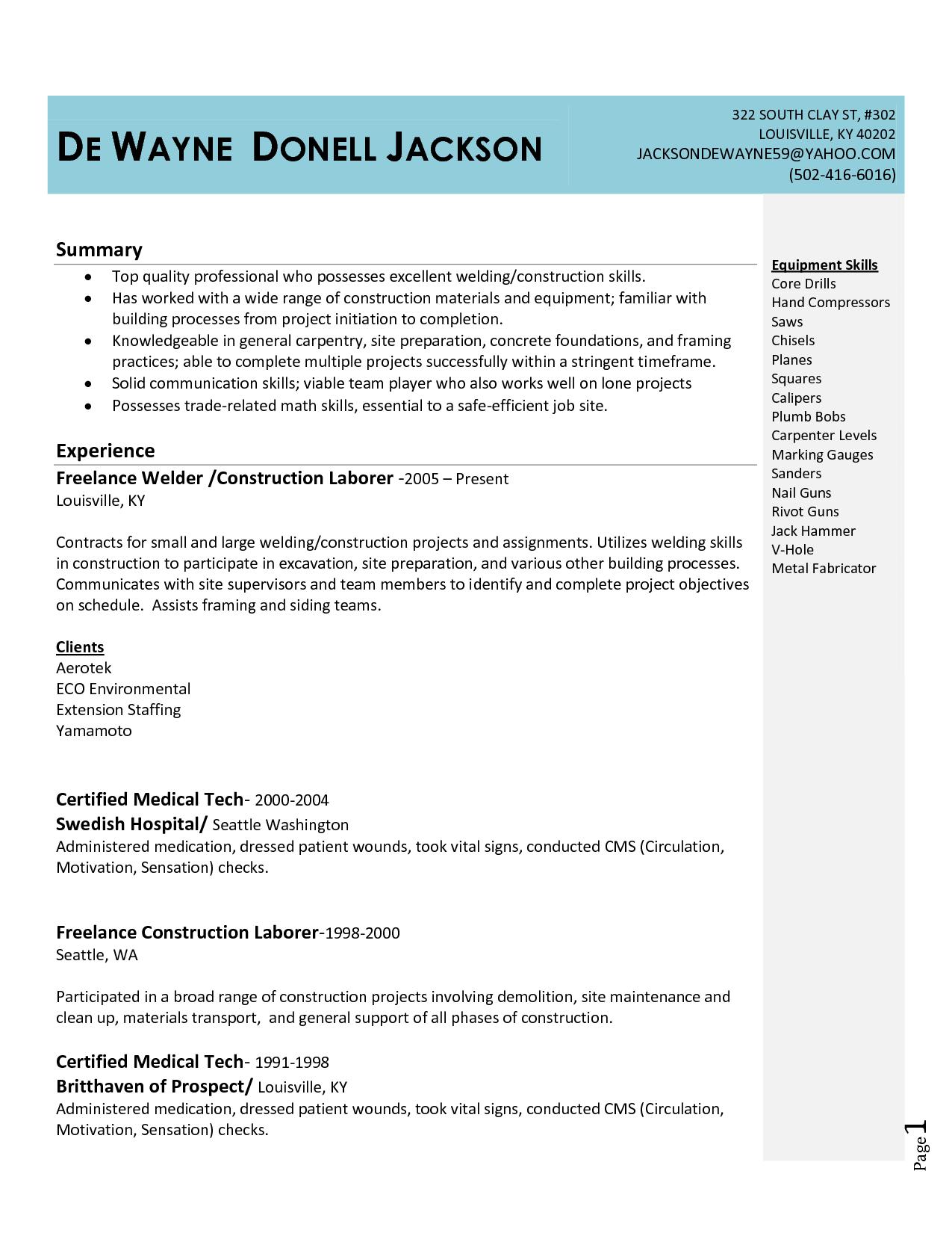 Unique Welder Resume Google Search Resume Examples Resume Sample Resume