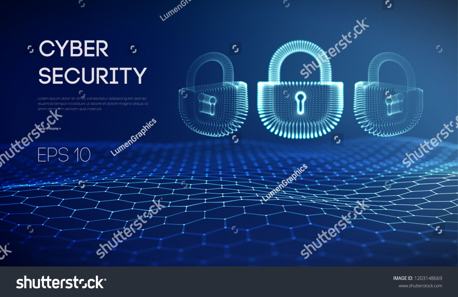 Coputer internet cyber security background  Cyber crime vector
