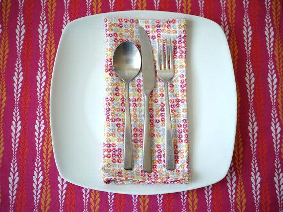 Modern Wedding Gifts: Mid Century Modern Reversible Cotton Placemats